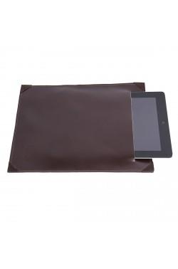 Porta-tablet uomo color cioccolato