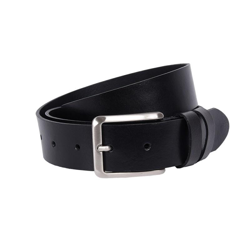Cintura in pelle color nero