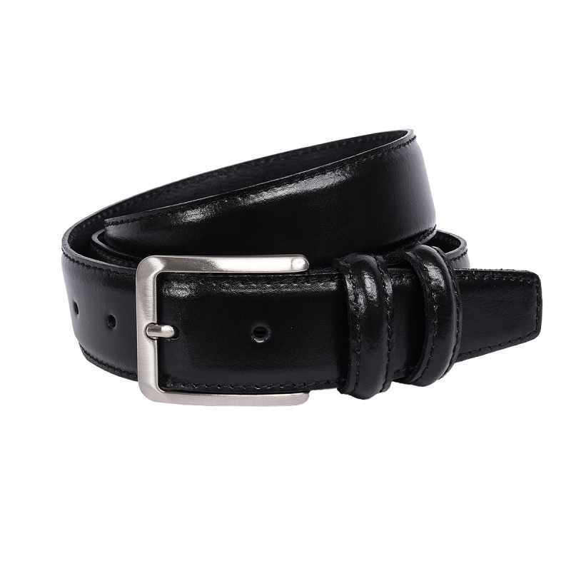 Cintura in vitello color nero