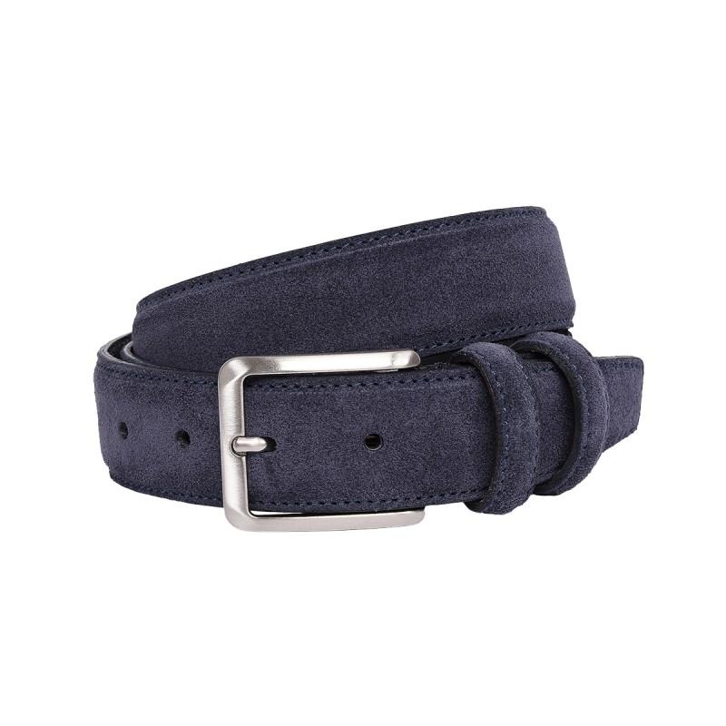 Cintura scamosciata color blu
