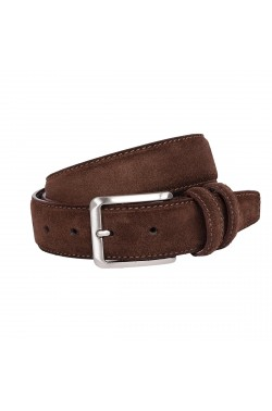 Cintura scamosciata color cioccolato