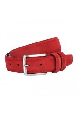 Cintura scamosciata color rosso
