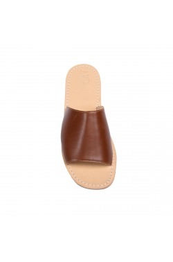 Leather Brown Sandal with strip for men