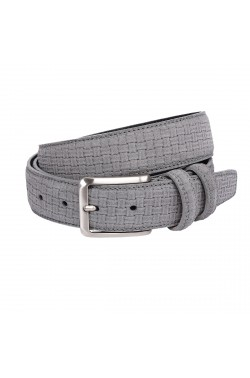 Grey Suede Grease Natural Leather  Plaited Belt for children