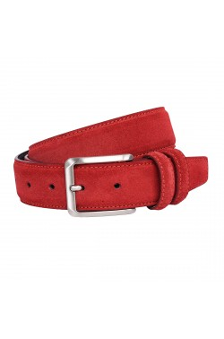Red Suede Grease Natural Leather Belt for children