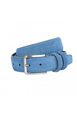 Jeans Coloured Suede Grease Natural Leather Belt for children