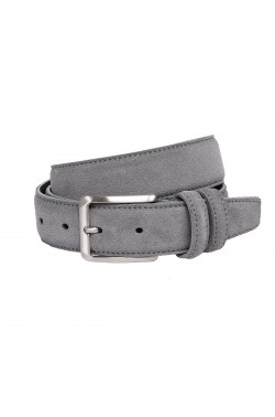 Grey Suede Grease Natural Leather Belt for children