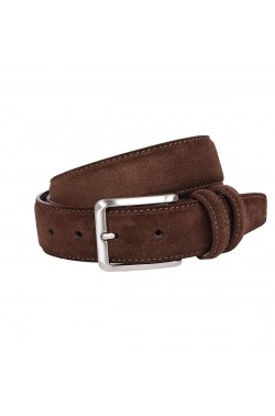 Choccolate Brown Suede Grease Natural Leather Belt for children