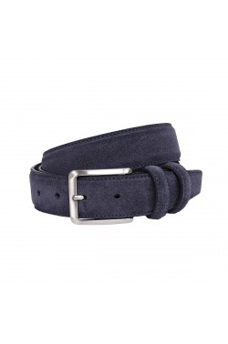 Blue Suede Grease Natural Leather Belt for children