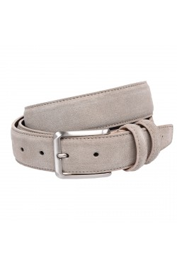 Beige Suede Grease Natural Leather Belt for children