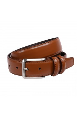 Leather Brown Grease Natural Leather Belt for children