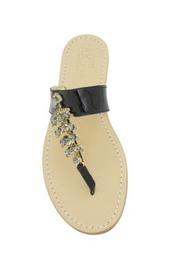 "Black Jewel Sandal ""Annamaria"""