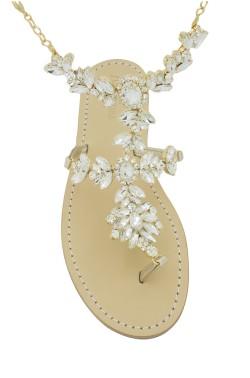 Sandali con cavigliera Anna color platino