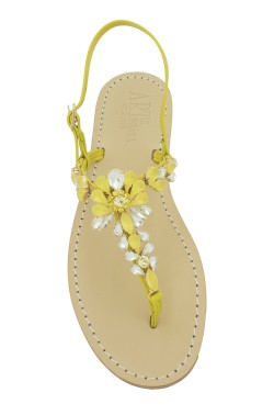 sandali gioiello Loredana color giallo