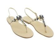 Sandali gioiello Imma color platino metallizzato