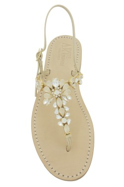 "Nude Coloured Jewel Sandal ""Loredana"""