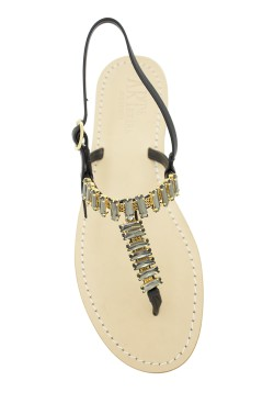 "Black Jewel Sandal ""Mary"""