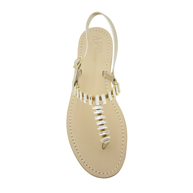 Sandali gioiello Mary color platino
