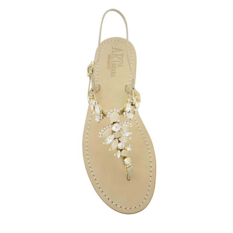 Sandalo gioiello Olga color naturale