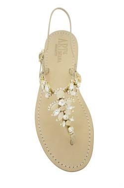 """Sandalo gioiello """"Olga"""" color naturale"""
