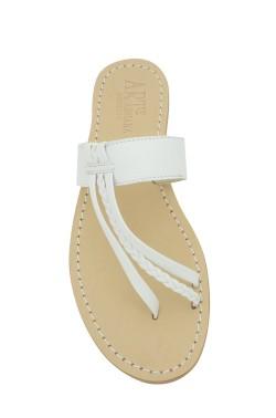 Sandali Italia color bianco con treccia