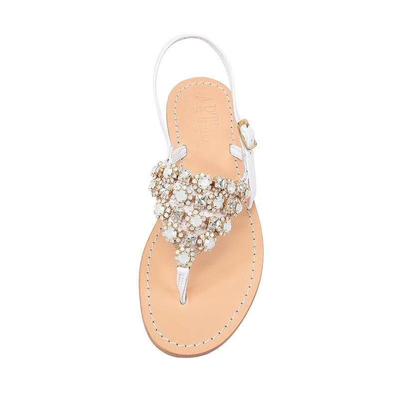 check out c8404 c3e88 Sandalo gioiello Beatrice color bianco