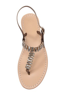 "Bronze Coloured Jewel Sandal ""Mary"""