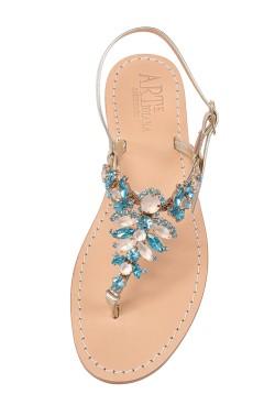 Sandali gioiello Olga color platino