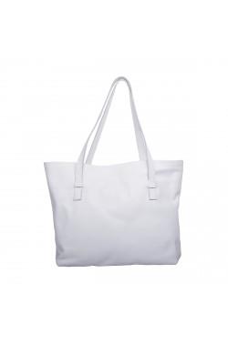 Borsa Bag in vitello naturale color bianco