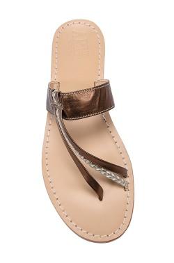 Sandali Italia color bronzo con treccia