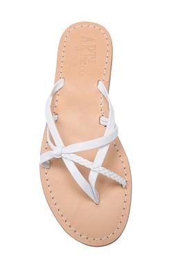 Sandali a treccia color bianco