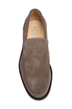 Classic beige suede college shoes mocassin model without strip