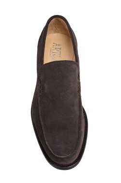 Classic choccolate brown college shoes mocassin model without strip