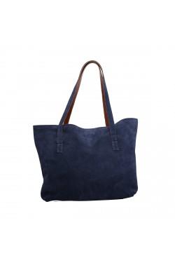 Borsa Bag scamosciata color blu
