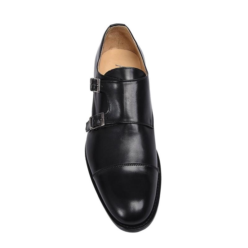 Scarpe con fibbie modello derby color nero