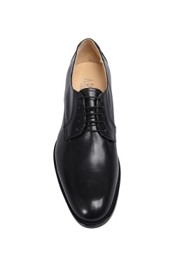 Classic black college shoes derby model witht laces
