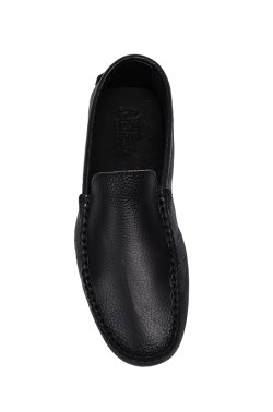 Black mocassin in calf leather
